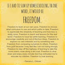 homeschool freedom pic